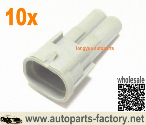 longyue 10Kit Nippon Denso Fuel Injector Male Connector Kit