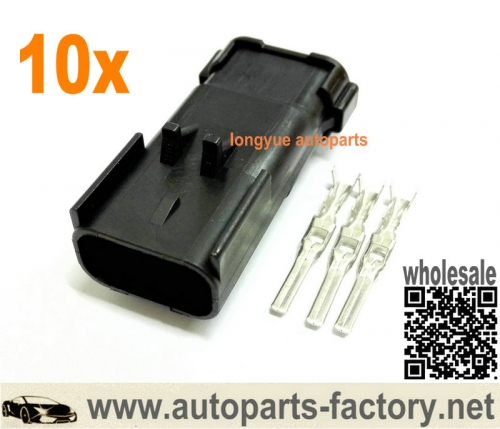 longyue 10set 3 way Repair Male Connector Fit MoPar Crank Cam Crankshaft Sensor and Ignition Coils,Speed Sensor
