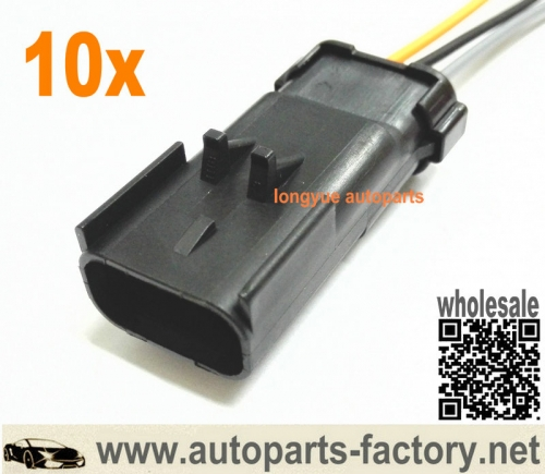 longyue 10pcs 3 way Male Connector for MoPar Crank Cam Crankshaft Sensor and Ignition Coils 6""
