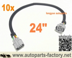 longyue 10pcs Multipurpose Oxygen Sensor Extension Harness 24""