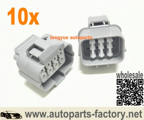 longyue 10pcs 8 Pin Multipurpose Honda OBD2 Connector fits Prelude Distributor, A/F Ratio sensor,Acura Ignition Module and Transmission