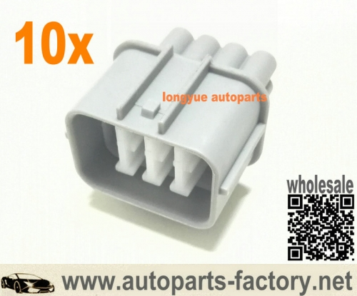 longyue 10pcs 8 Pin Multipurpose Honda OBD2 Male Connector fits Prelude Distributor, A/F Ratio sensor,Acura Ignition Module and Transmission