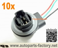 longyue 10pcs LED Bulb Brake Signal Light Socket Harness Wire Adapter 3157 3057 3156 3155 6""