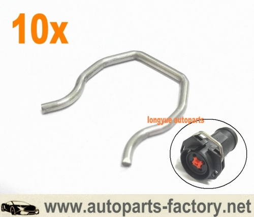 longyue 10pcs 03-10 Ford 6.0 6.0L Powerstroke Diesel Fuel Injector Connector Clip F250 F350