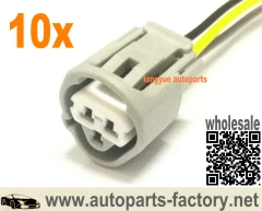longyue 10pcs 3 Way Toyota ECT, CLT, & Temperature Sensor Plug Connector Pigtail (Toyota # 90980-11451) 12