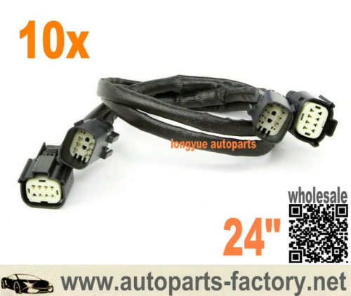 "longyue 10pcs Front O2 Sensor Wire Harness Extension 24"" 2011-14 Ford Mustang V6 3.7L- - S197"
