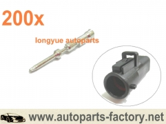 200pcs Male Terminal Pins Fit Oxygen O2 Sensor connector Harness w/ OE fuel pump Plugs 86-09 Mustang