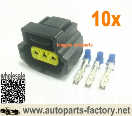 longyue 10kit Tyco/Amp 3pin Alternator Plug waterproof electrical automotive Connector 184032-1