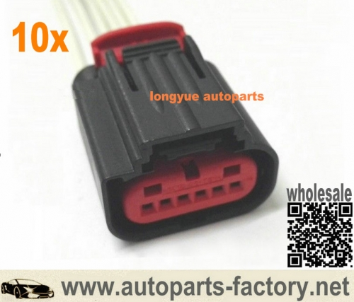 longyue 10pcs Ford Transit Mk8 TDCI MAF B Air Mass Sensor Connector Wiring Loom 8V21-12B579-AA 12""