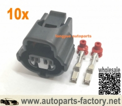 longyue 10kit 2 Pin Plug For Honda K Series RV Toyota 2JZ IAT VVTi Connector IAT Sensor 1JZ-GTE 2JZ-GTE 90980-11025