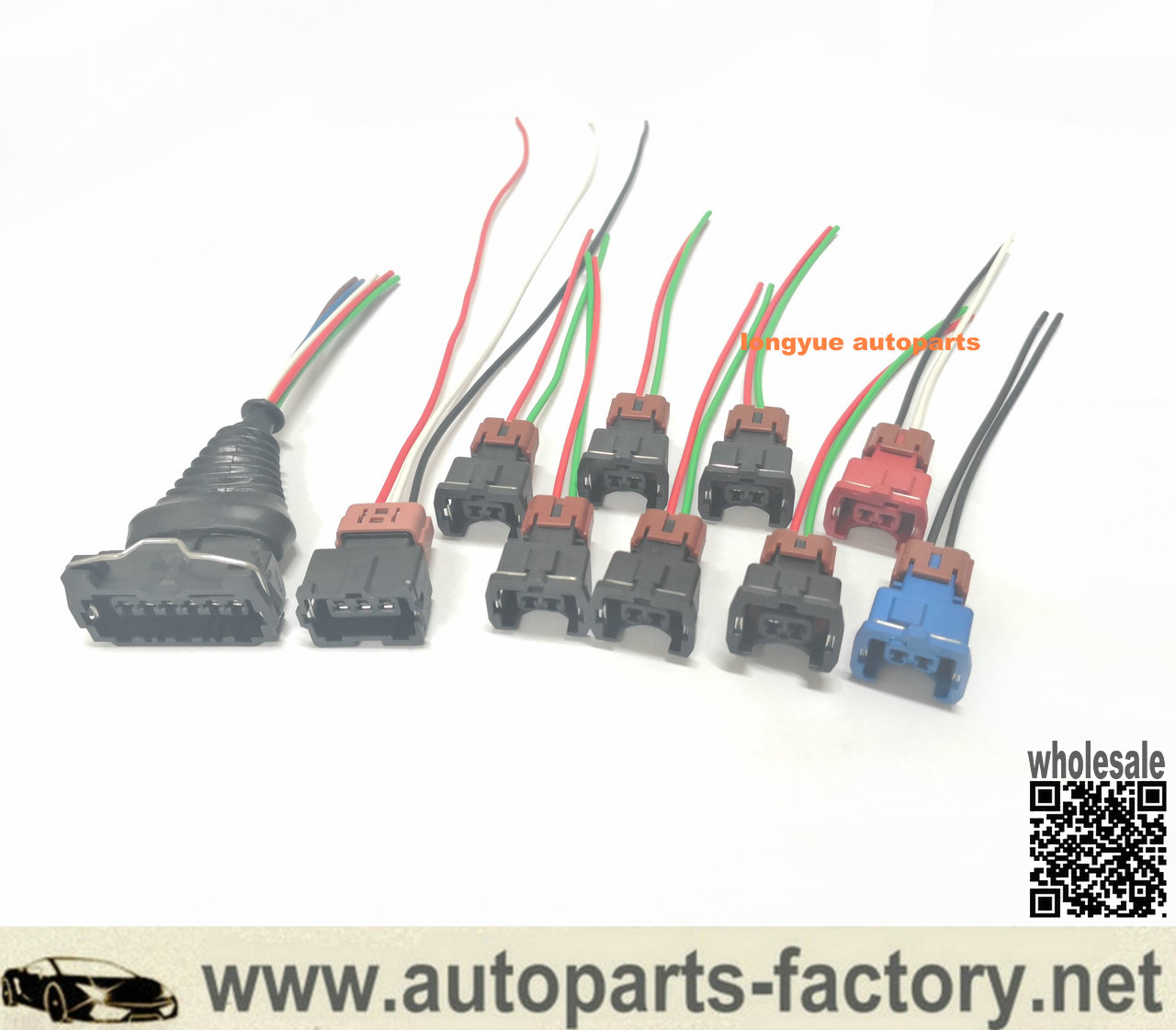 Fuel Injector MAF TPS Wiring Harness Connector Kit for Nissan 300zx z31  84-87longyue autoparts