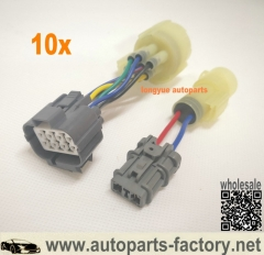 longyue 10set Honda Civic Integra OBD0 to OBD1 Distributor Adaptor Harness Jumper EF DA
