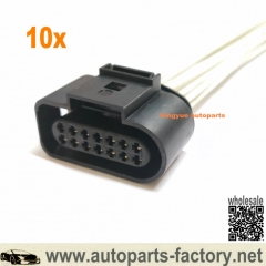 longyue 10pcs 6X0973717 14 Way Wire Plug Harness Connector For VW Touran Touareg Transporter Golf Jetta Passat For Audi For Seat 8