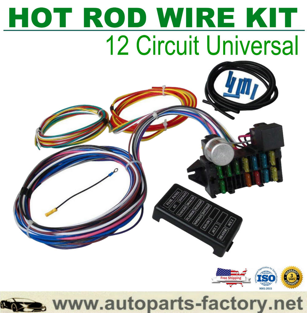 [DIAGRAM_3ER]  12 Circuit Hot Rod Universal Wiring Harness Muscle Car Street Rod XL Wires | Hot Rod Wiring Harness |  | longyue autoparts