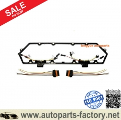 longyue 94-97 Powerstroke 7.3 7.3L Ford Valve Cover Gasket w/Fuel Injector VC Glow Plug Harness-FREE SHIPP available