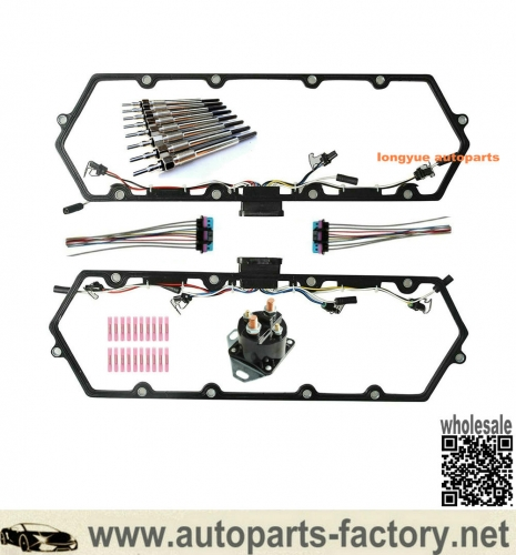 longyue 97-03 Ford 7.3L Valve Cover Gasket With Harness, Glow Plug Controller & Glow Plug Set-FREE SHIPPING is available