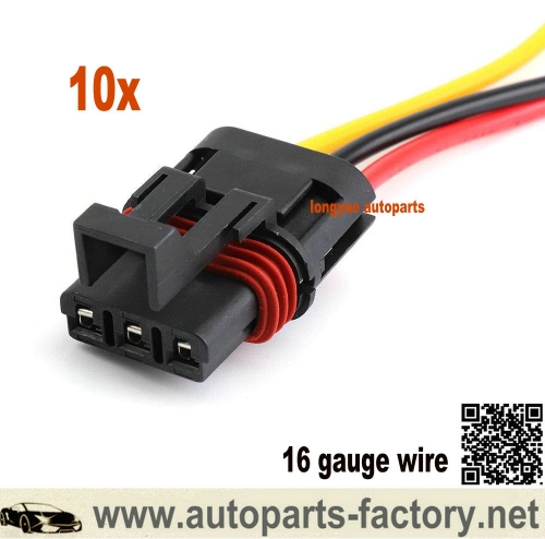 longyue 10pcs 2018-2020 Polaris Pulse Busbar Accessory Wiring Harness Pigtail (16 Gauge Wire) 6""