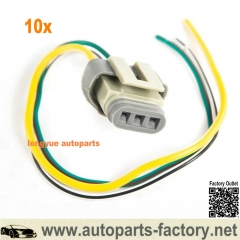 longyue 10set 1986-1993 Ford Mustang 2G 3G 4G Alternator Harness Voltage Regulator Connector plug 3 Wire Pigtail 8""