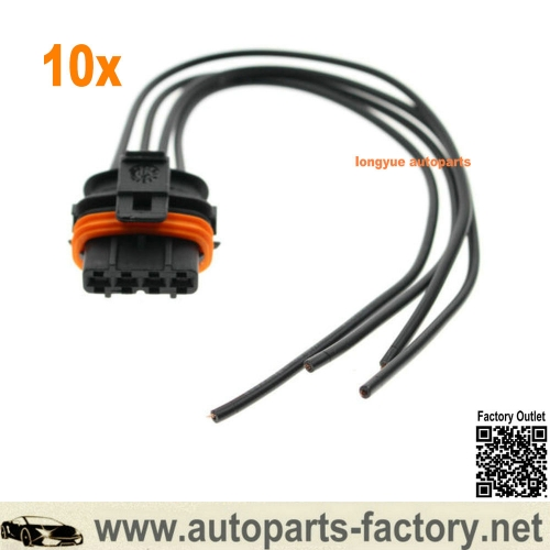 longyue 10set Electrical Connector Pigtail Harness For Volvo 5 Cyl Plug UF341 Ignition Coil 8""