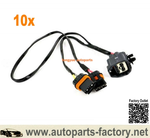 longyue 10pcs 2005-2008 Chrysler 300 Dodge Charger Cooling Fan Wiring Harness 5137716AB