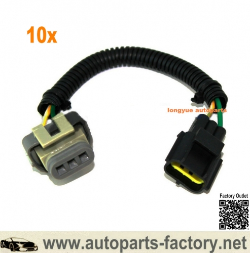 longyue 10pcs Alternator Conversion Plug Harness Kit Fits Ford Lincoln Mercury 6G To 4G Series