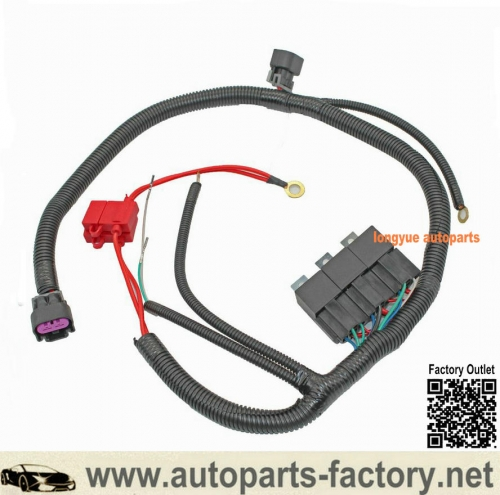 Longyue Dual Electric Fan Upgrade Wiring Harness For GM 99-06 ECU 7L5533A226T