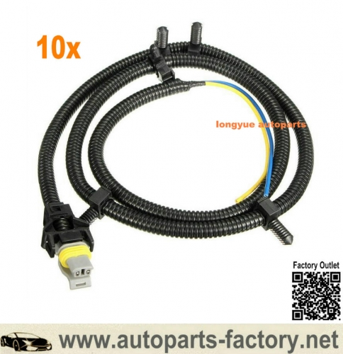 Longyue 10x ABS Wheel Speed Sensor Harness Wire Plug Pigtail For Chevy Buick Cadillac  #10340316 10340314